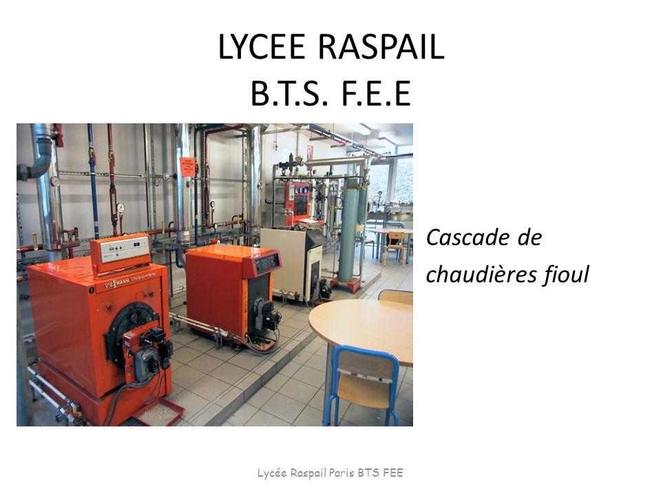LYCEE RASPAIL B.T.S. F.E.E Cascade de chaudières fioul Lycée Raspail Paris BTS FEE