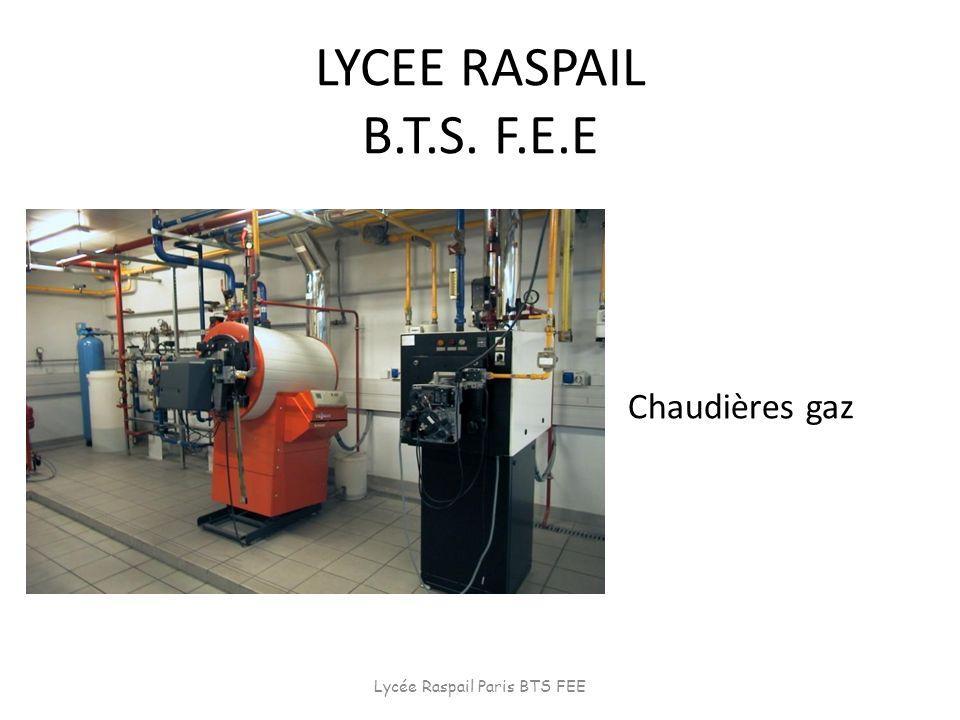 LYCEE RASPAIL B.T.S. F.E.E Chaudières gaz Lycée Raspail Paris BTS FEE