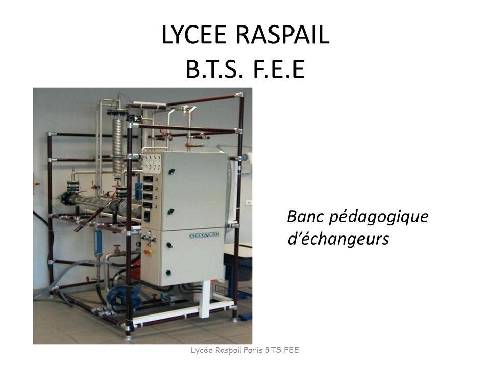 LYCEE RASPAIL B.T.S. F.E.E Banc pédagogique déchangeurs Lycée Raspail Paris BTS FEE