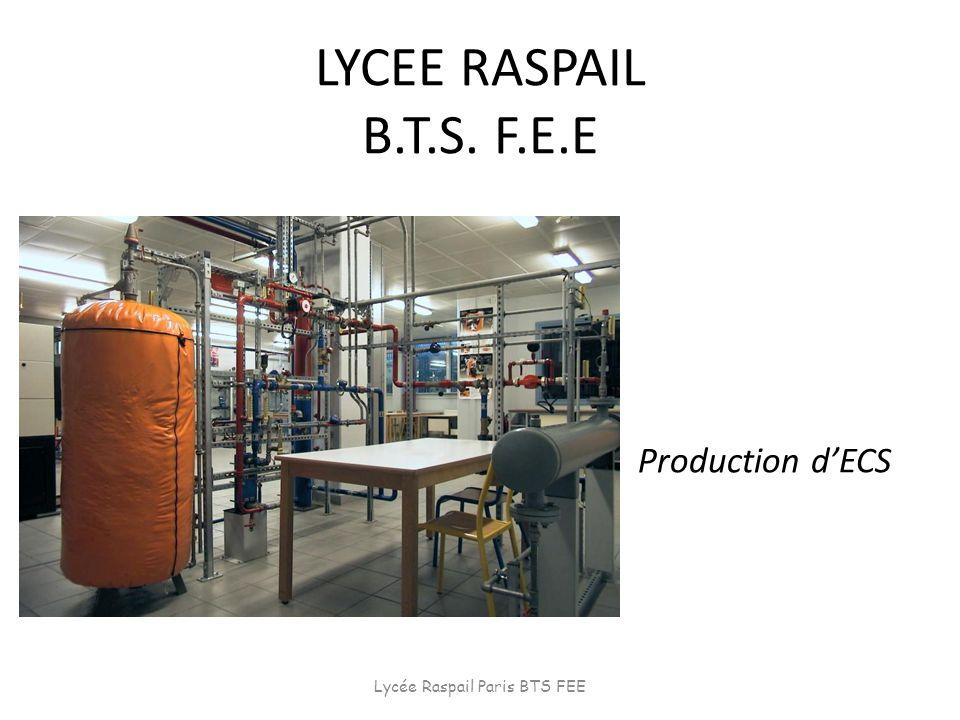 LYCEE RASPAIL B.T.S. F.E.E Production dECS Lycée Raspail Paris BTS FEE