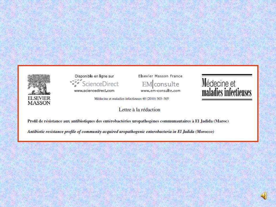 Notre enquête H.Nadmia et al, Médecine et Maladies Infectieuses 40 (2010) 303–305 Réseau Aforcopi-Bio 2007 Association de formation continue en pathol