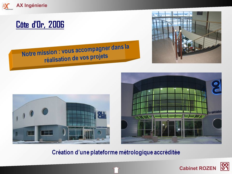Côte d'Or, 2006 Création dune plateforme métrologique accréditée Notre mission : vous accompagner dans la réalisation de vos projets