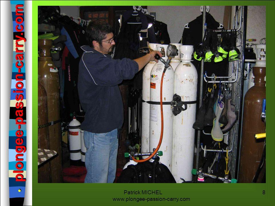 Patrick MICHEL www.plongee-passion-carry.com 19 LE MATERIEL NITROX Le matériel: n Jusquà 40 % de fraction dOxygène, des études (dont celles de la NASA) ont montré que l on pouvait utiliser du matériel classique (dégraissé).