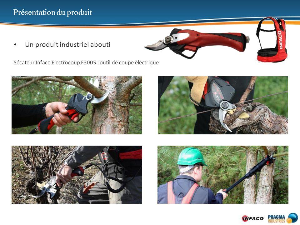 Présentation du produit Un produit industriel abouti Sécateur Infaco Electrocoup F3005 : outil de coupe électrique