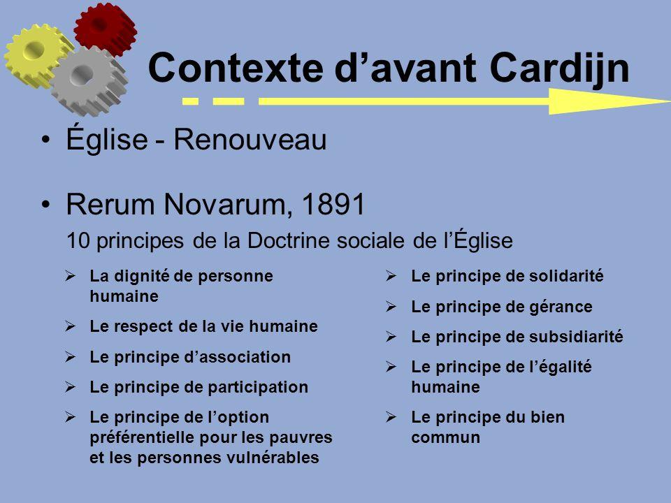Église - Renouveau Rerum Novarum, 1891 10 principes de la Doctrine sociale de lÉglise La dignité de personne humaine Le respect de la vie humaine Le p