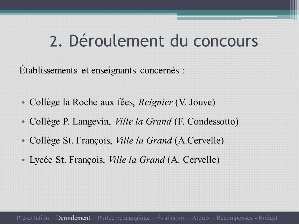 Collège la Roche aux fées, Reignier (V. Jouve) Collège P.