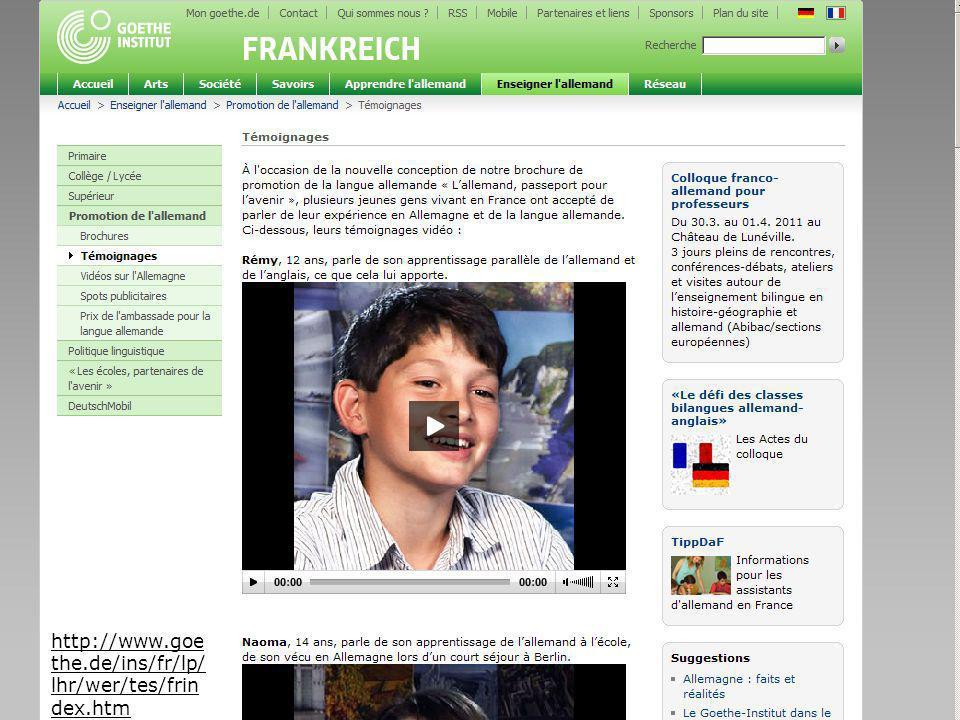 Seite 19 http://www.goe the.de/ins/fr/lp/ lhr/wer/tes/frin dex.htm