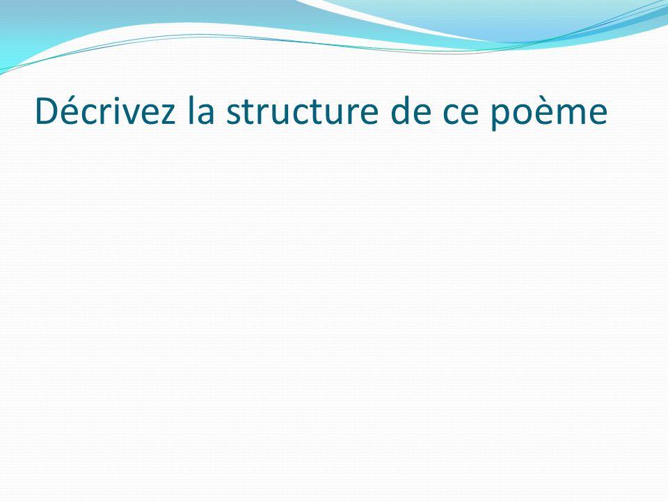 Décrivez la structure de ce poème