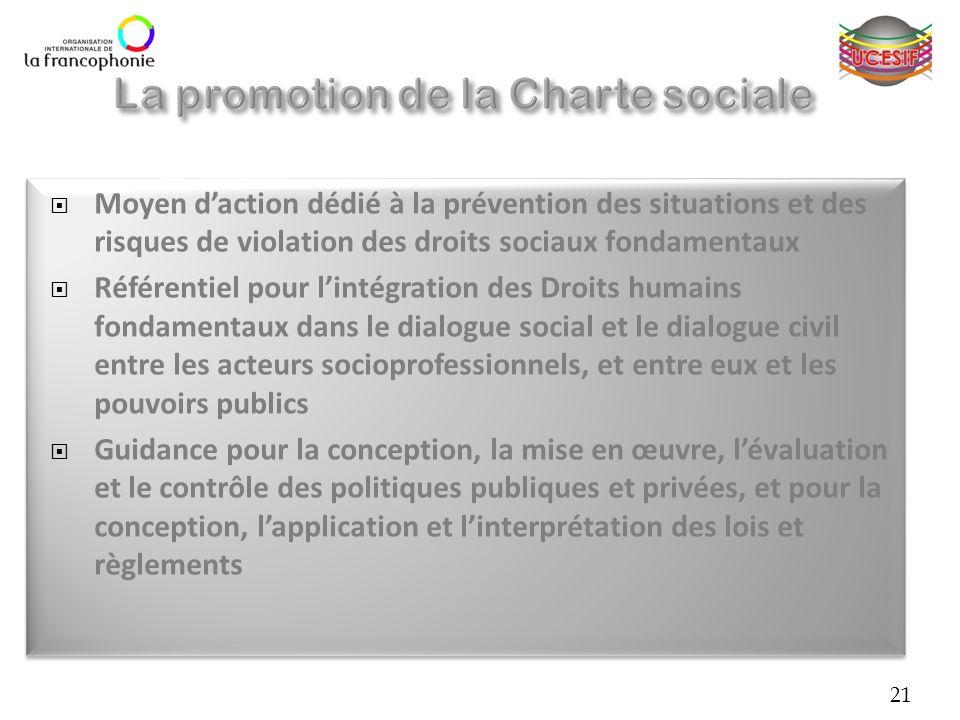 Moyen daction dédié à la prévention des situations et des risques de violation des droits sociaux fondamentaux Référentiel pour lintégration des Droit