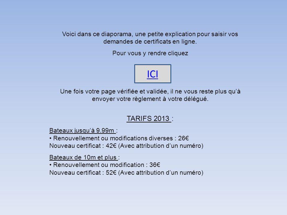 Voici dans ce diaporama, une petite explication pour saisir vos demandes de certificats en ligne.