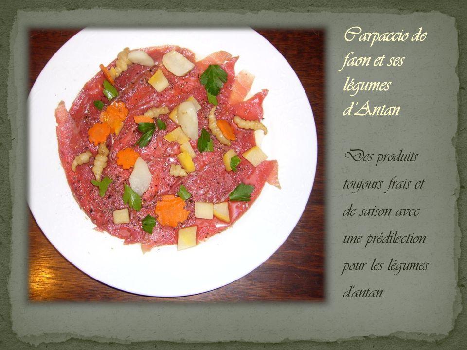 Des produits toujours frais et de saison avec une prédilection pour les légumes d antan.