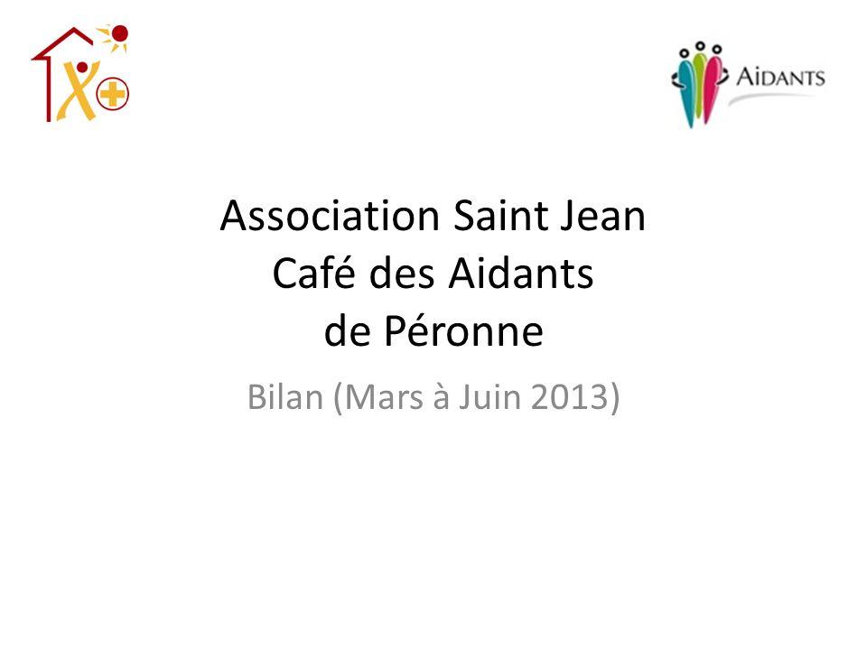 Association Saint Jean Café des Aidants de Péronne Bilan (Mars à Juin 2013)
