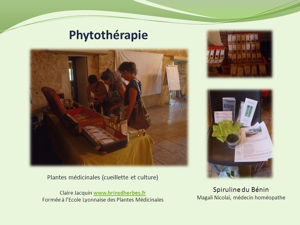 Phytothérapie Plantes médicinales (cueillette et culture) Claire Jacquin www.brinsdherbes.frwww.brinsdherbes.fr Formée à lEcole Lyonnaise des Plantes