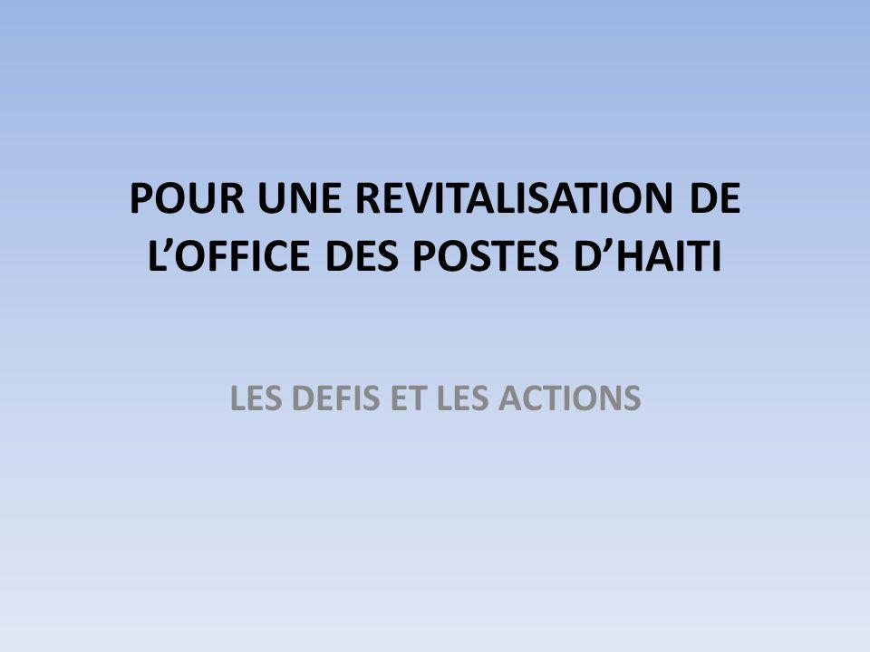 POUR UNE REVITALISATION DE LOFFICE DES POSTES DHAITI LES DEFIS ET LES ACTIONS
