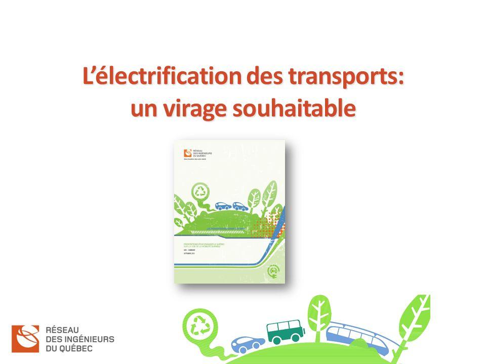 Lélectrification des transports: un virage souhaitable