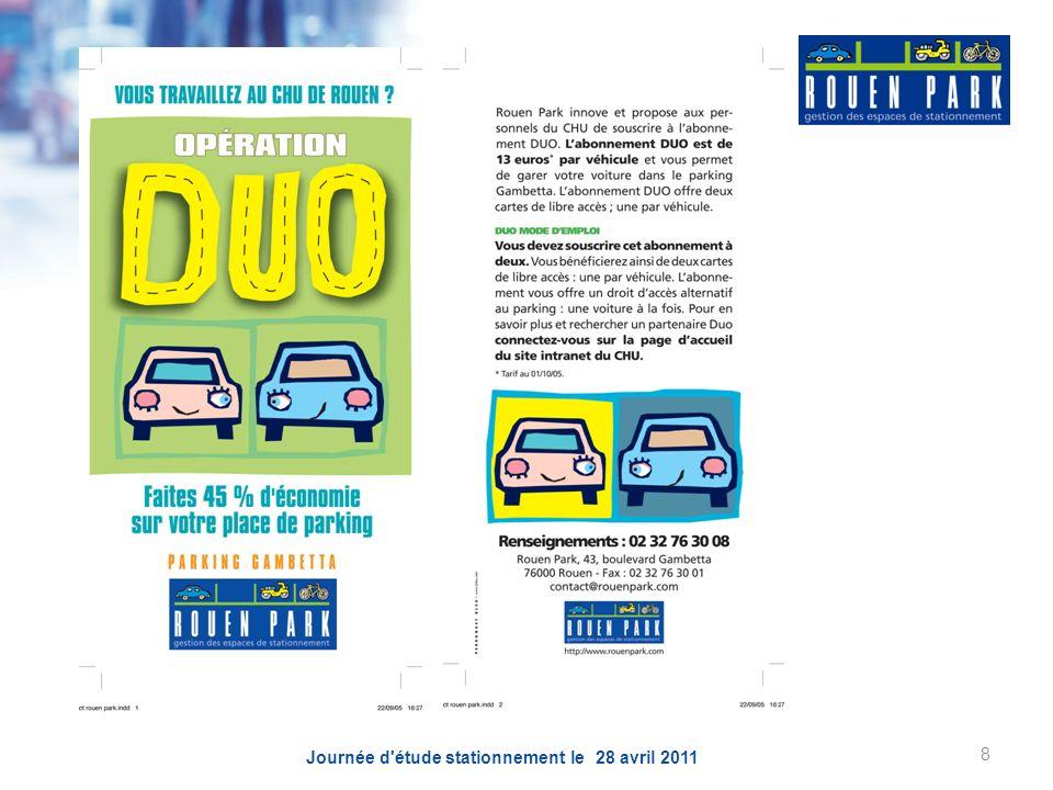 Journée d étude stationnement le 28 avril 2011 8