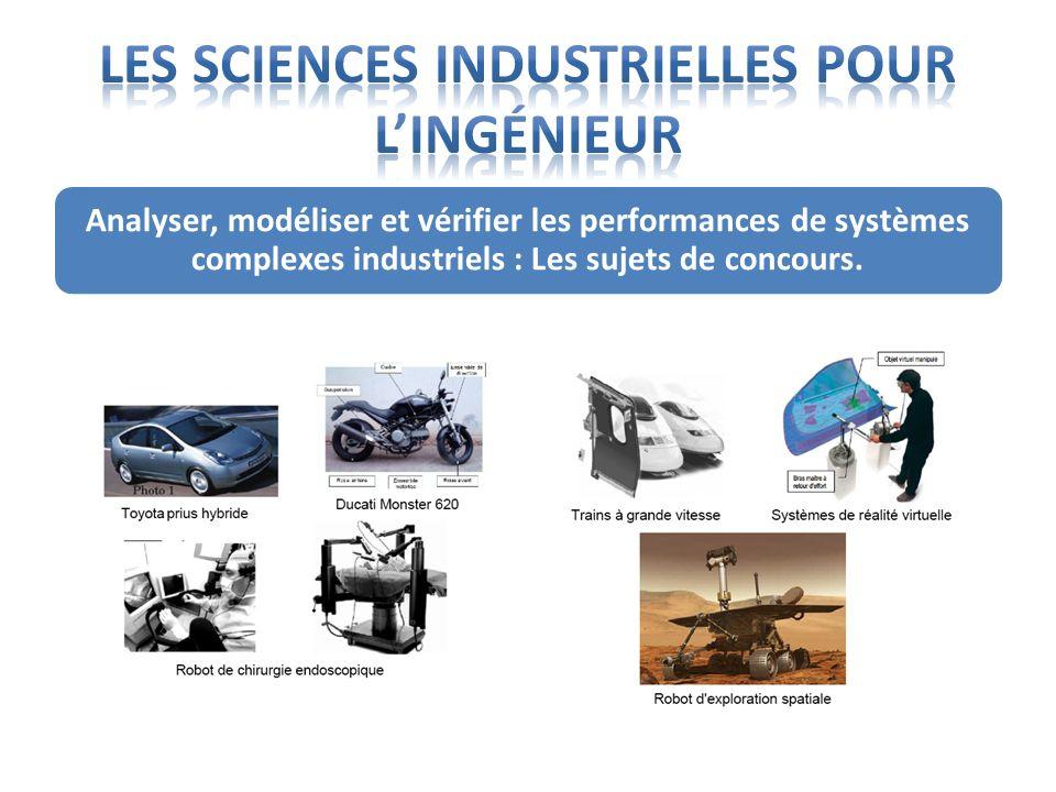 Analyser, modéliser et vérifier les performances de systèmes complexes industriels : Les sujets de concours.