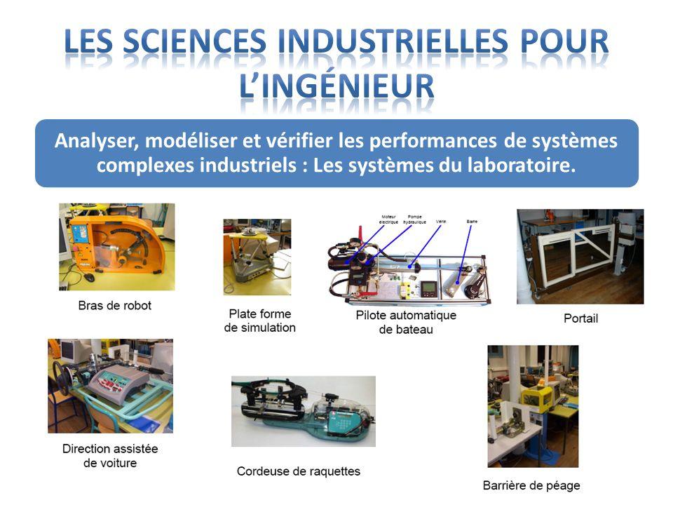 Analyser, modéliser et vérifier les performances de systèmes complexes industriels : Les systèmes du laboratoire.