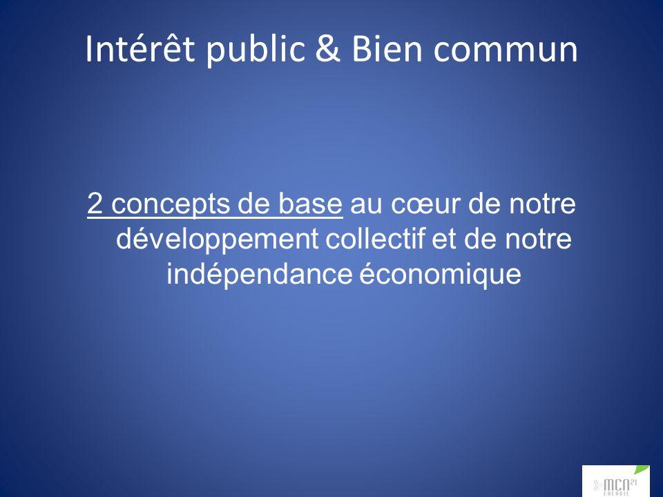 Intérêt public & Bien commun 2 concepts de base au cœur de notre développement collectif et de notre indépendance économique