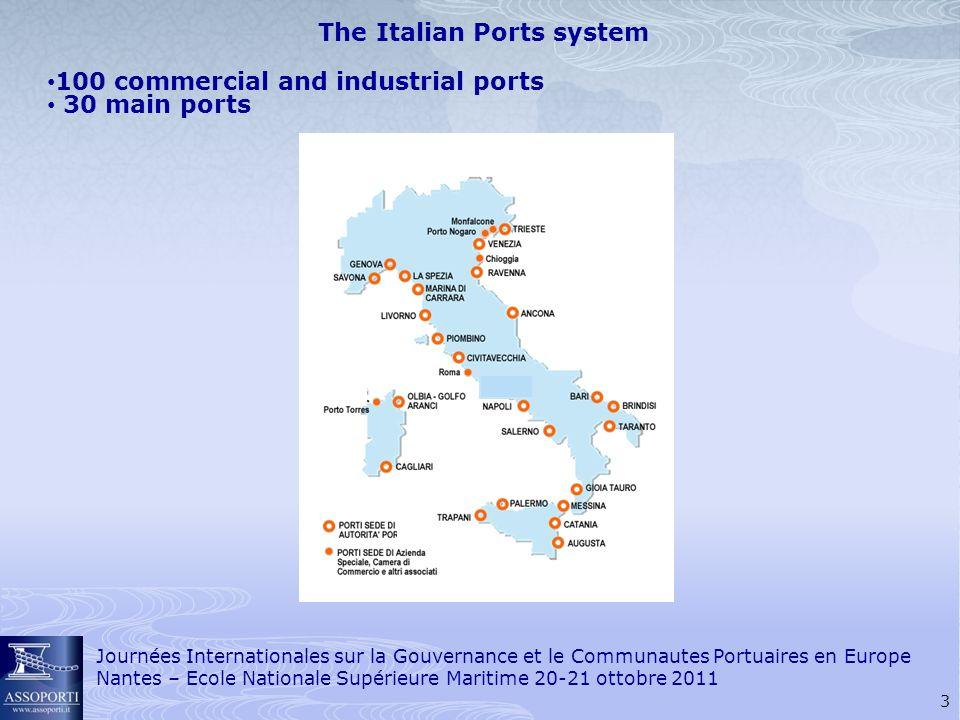 4 Journées Internationales sur la Gouvernance et le Communautes Portuaires en Europe Nantes – Ecole Nationale Supérieure Maritime 20-21 ottobre 2011