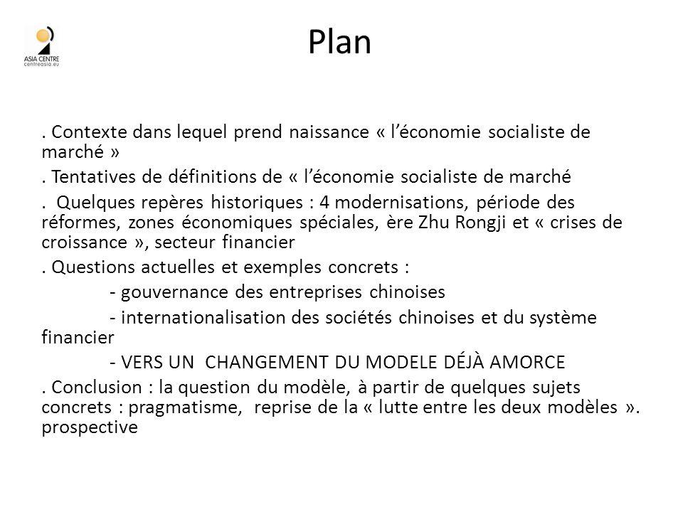 Plan. Contexte dans lequel prend naissance « léconomie socialiste de marché ».