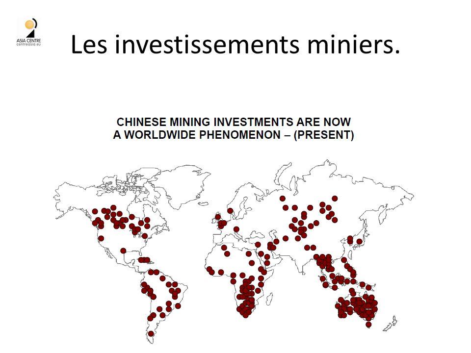Les investissements miniers.