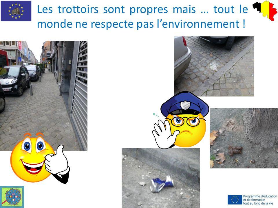 Les trottoirs sont propres mais … tout le monde ne respecte pas lenvironnement !