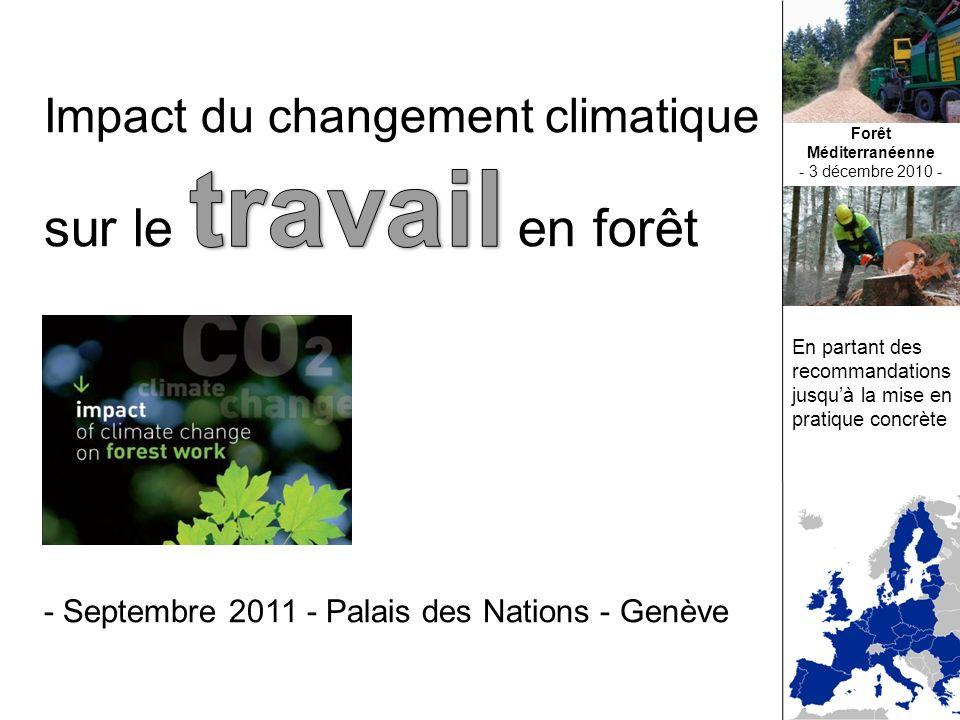 En partant des recommandations jusquà la mise en pratique concrète Forêt Méditerranéenne - 3 décembre 2010 -