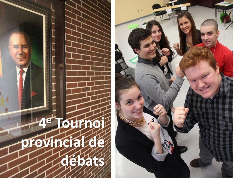 4 e Tournoi provincial de débats