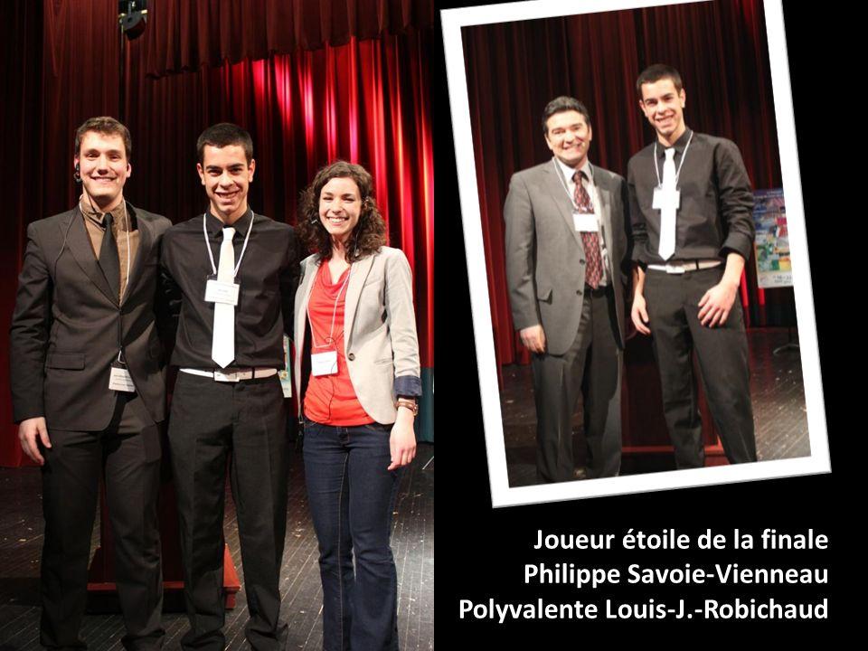 Joueur étoile de la finale Philippe Savoie-Vienneau Polyvalente Louis-J.-Robichaud