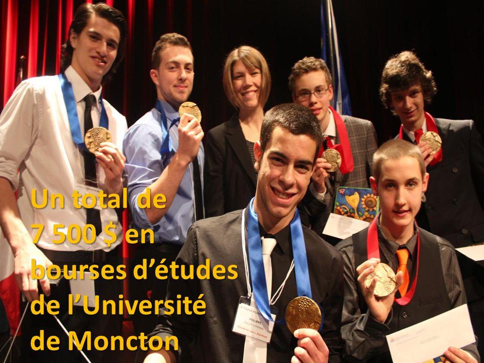Un total de 7 500 $ en bourses détudes de lUniversité de Moncton