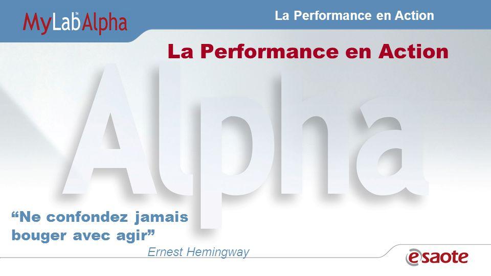 La Performance en Action Ne confondez jamais bouger avec agir Ernest Hemingway