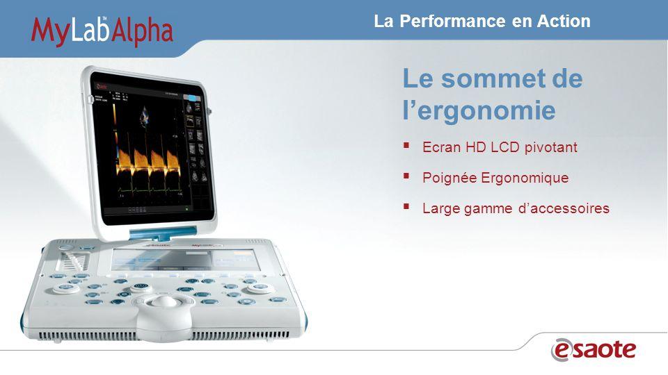 La Performance en Action Le sommet de lergonomie Ecran HD LCD pivotant Poignée Ergonomique Large gamme daccessoires