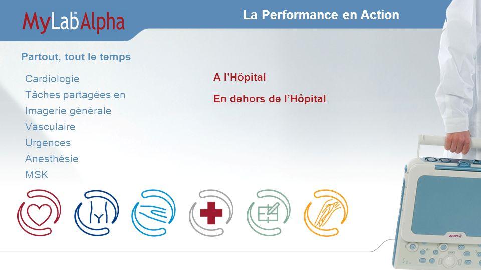 La Performance en Action Cardiologie Tâches partagées en Imagerie générale Vasculaire Urgences Anesthésie MSK A lHôpital En dehors de lHôpital Partout, tout le temps