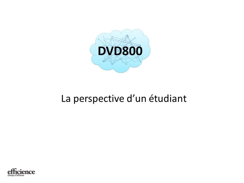 La perspective dun étudiant DVD800