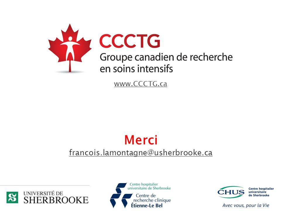 Merci francois.lamontagne@usherbrooke.ca www.CCCTG.ca