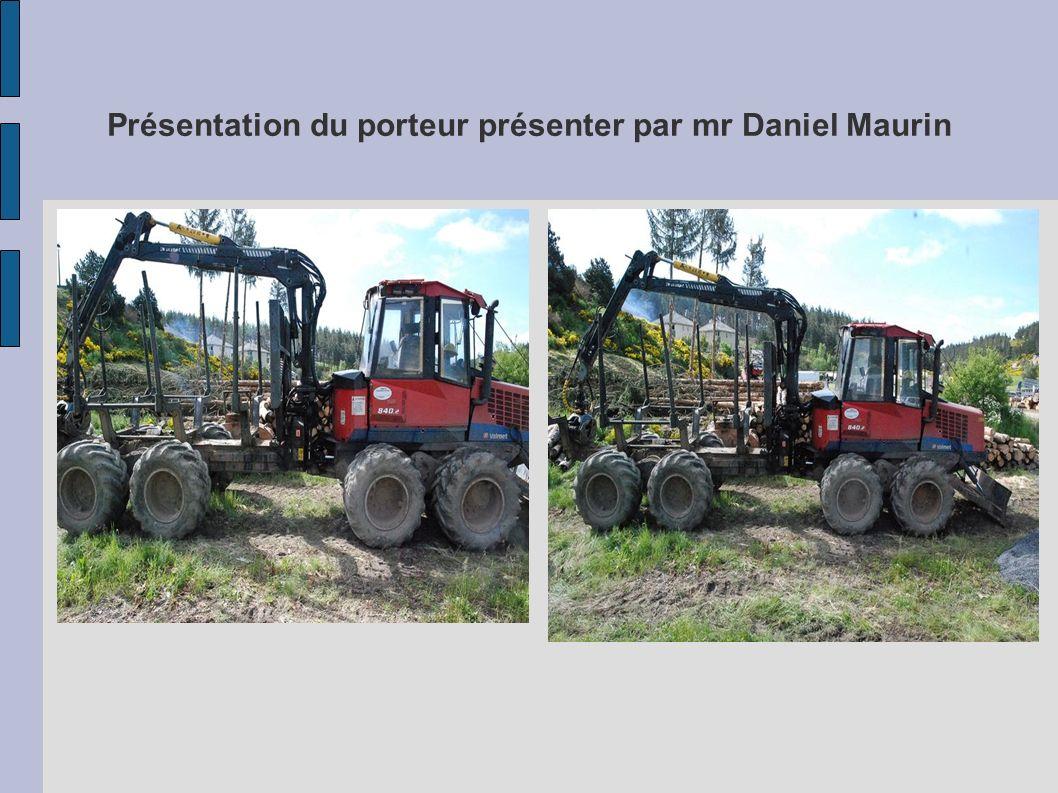 Présentation du porteur présenter par mr Daniel Maurin