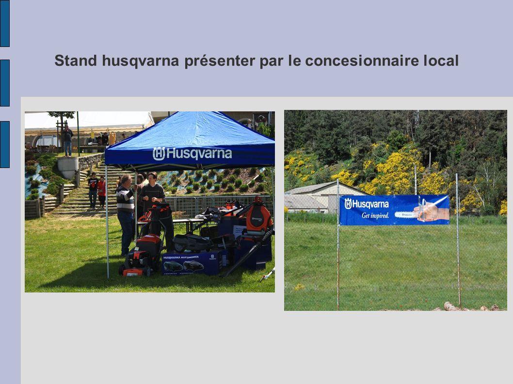 Stand husqvarna présenter par le concesionnaire local