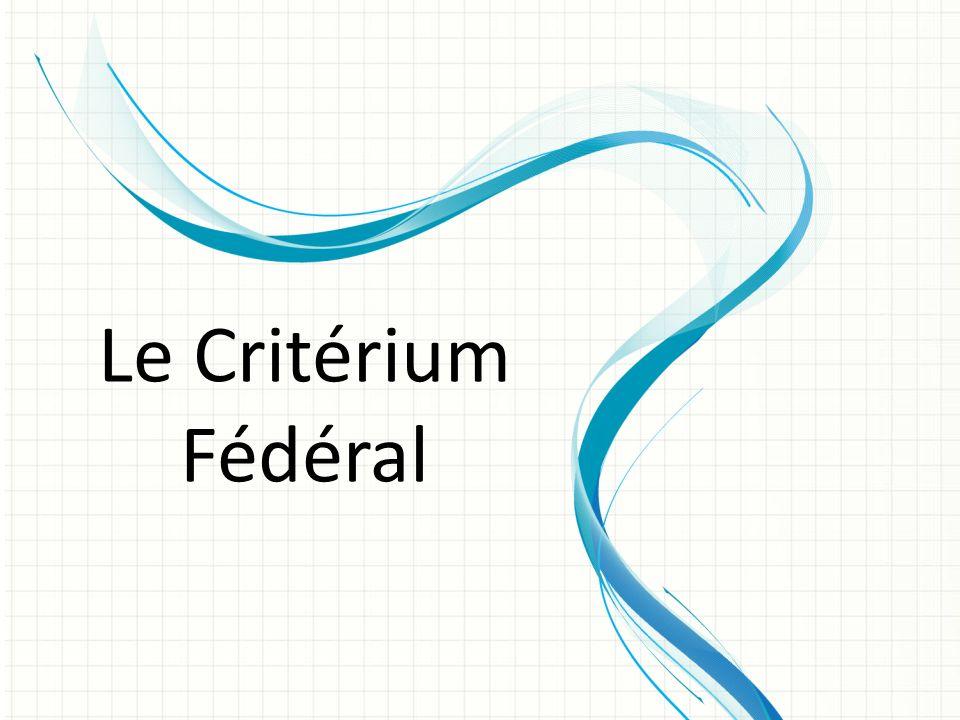 Le Critérium Fédéral