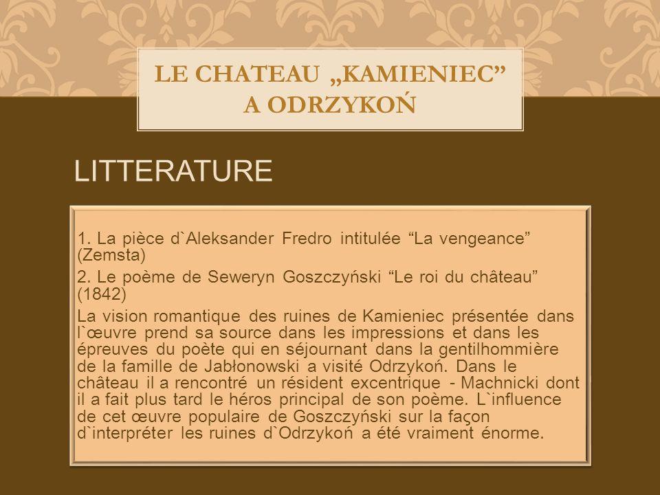 LE CHATEAU KAMIENIEC A ODRZYKOŃ LITTERATURE