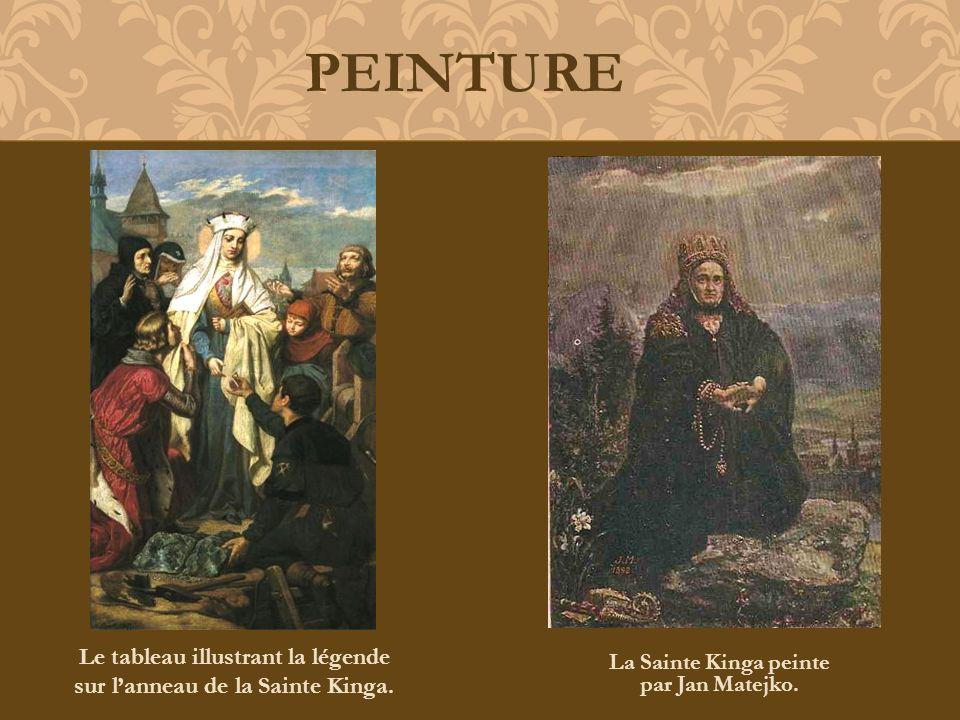 La Sainte Kinga peinte par Jan Matejko. PEINTURE Le tableau illustrant la légende sur lanneau de la Sainte Kinga.