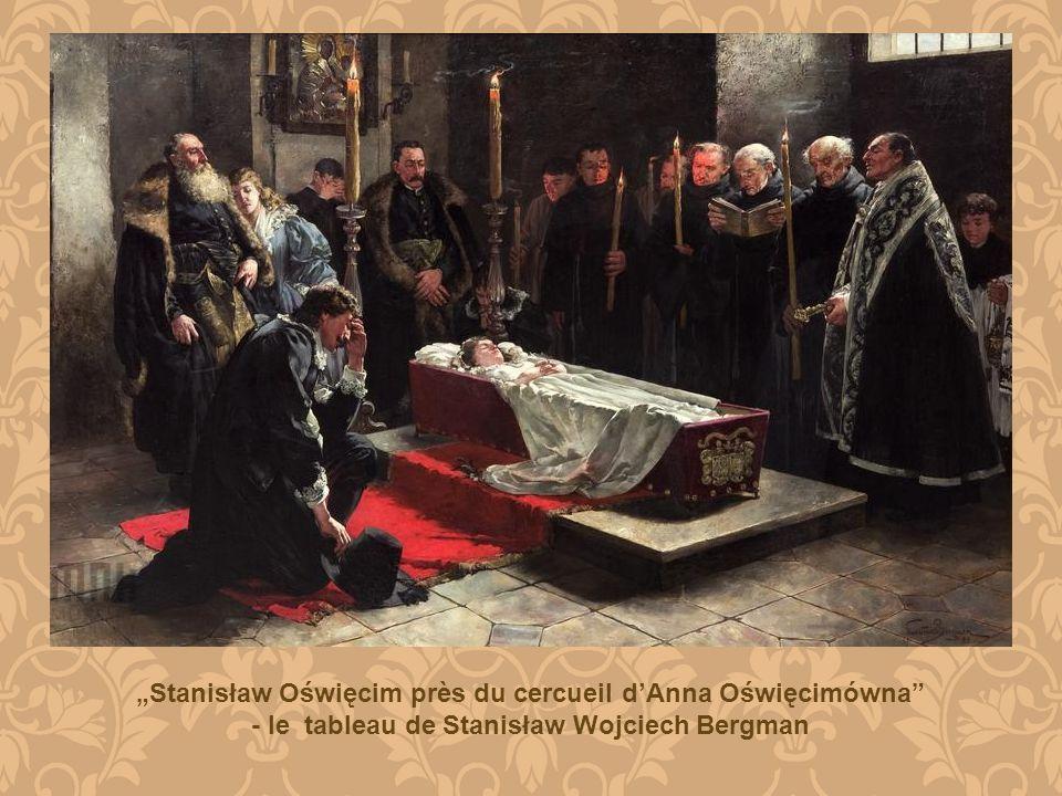 Stanisław Oświęcim près du cercueil dAnna Oświęcimówna - le tableau de Stanisław Wojciech Bergman