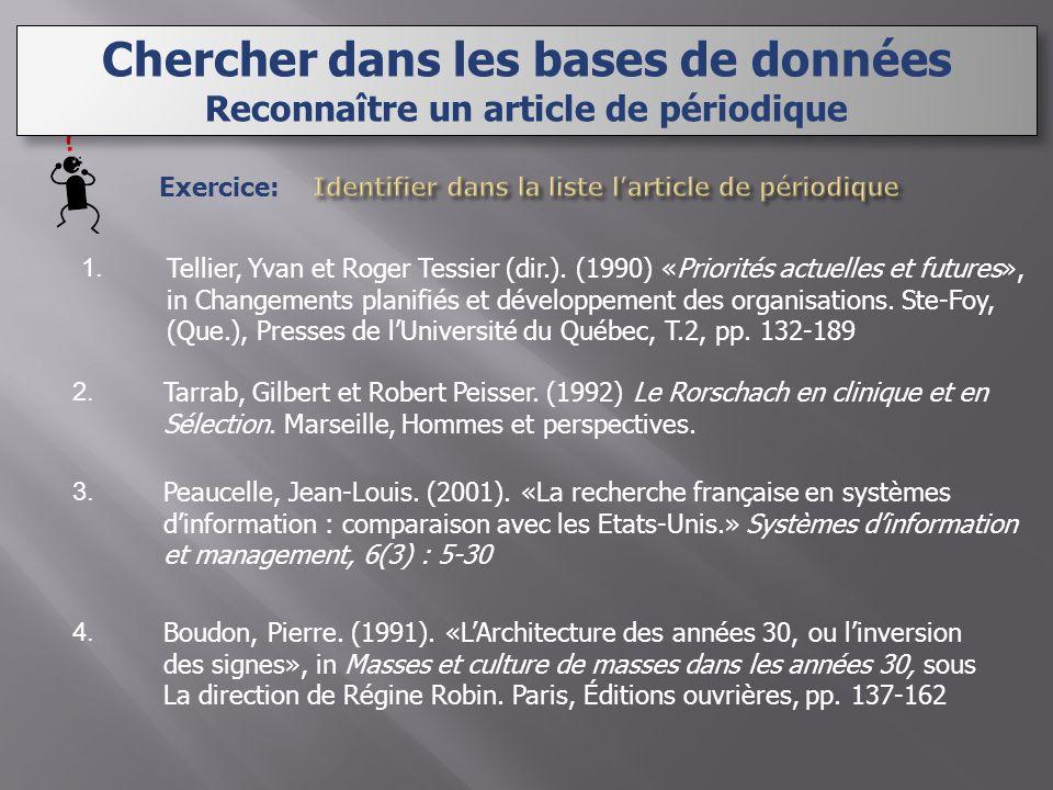 1. 2. 3. 4. Exercice: Tarrab, Gilbert et Robert Peisser.