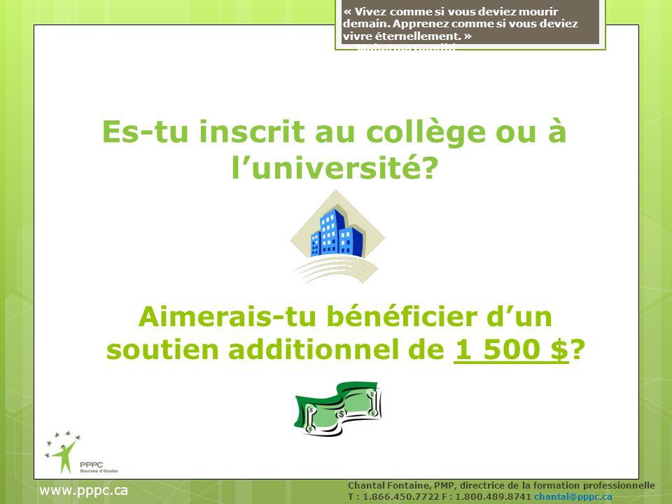 Es-tu inscrit au collège ou à luniversité.