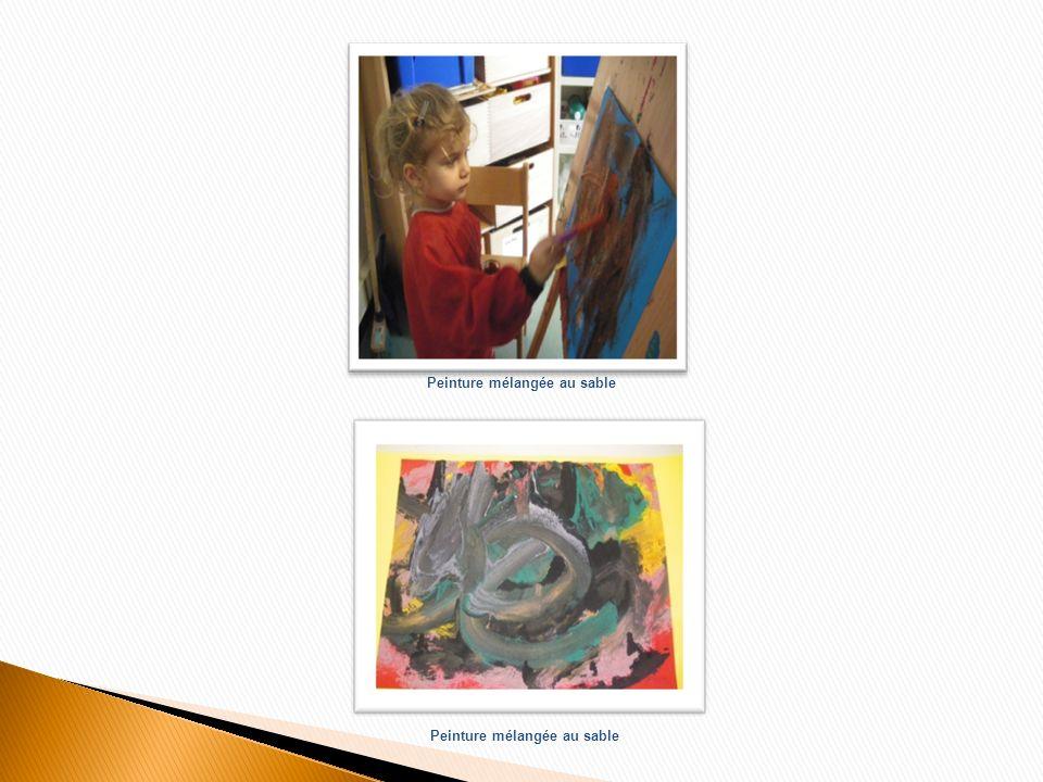 Devant ce tableau, les enfants vont sinstaller pour reproduire sur feuille peinte en rouge, lélément spirale, rond, escargot…Les enfants le nomment comme ils le souhaitent.
