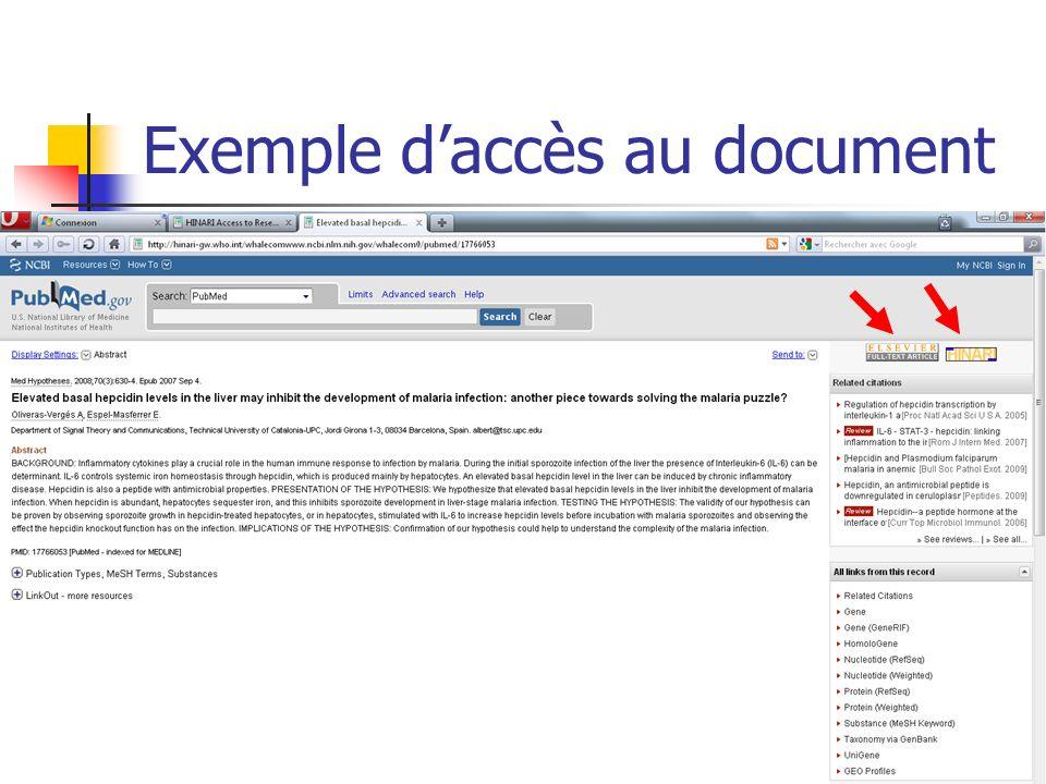Exemple daccès au document