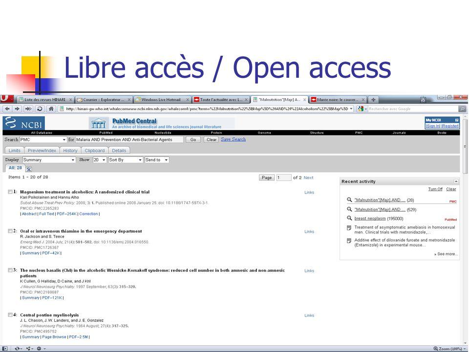 Libre accès / Open access