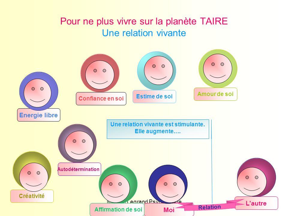 Maryse Legrand Psychologue16 Créativité Energie libre Moi Lautre Pour ne plus vivre sur la planète TAIRE Une relation vivante Autodétermination Confia