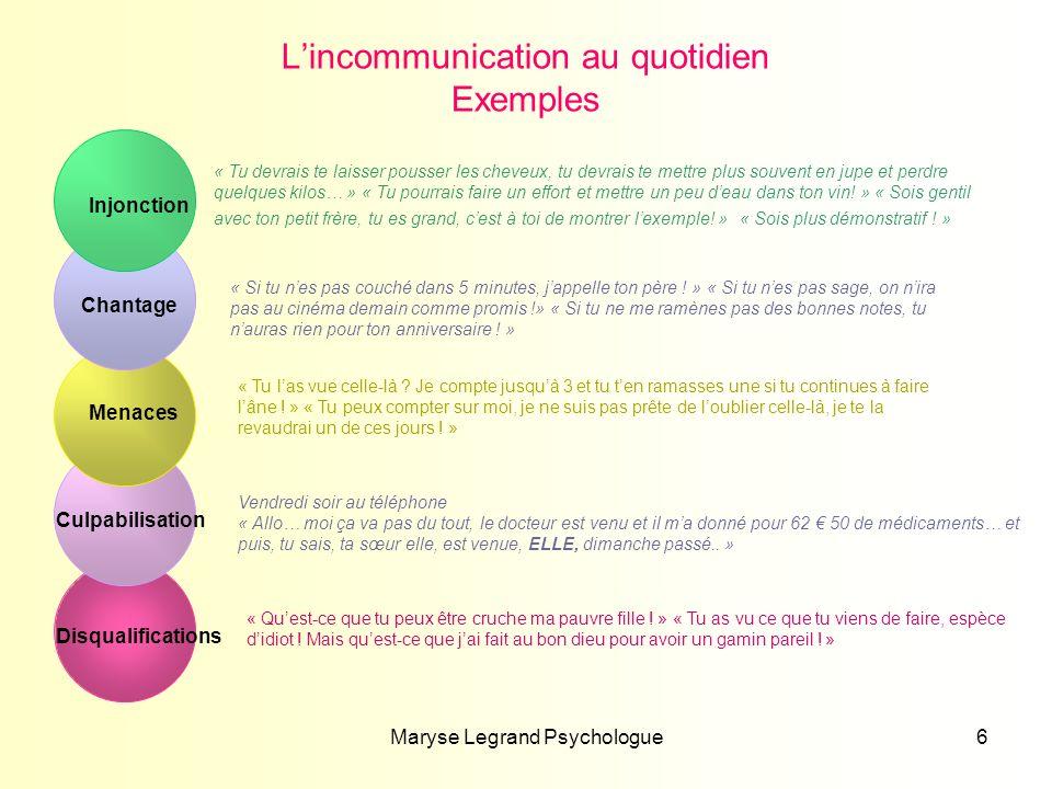 Maryse Legrand Psychologue17 « Fallait pas .» Merci .