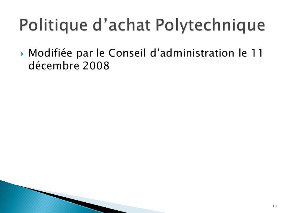 Modifiée par le Conseil dadministration le 11 décembre 2008 13